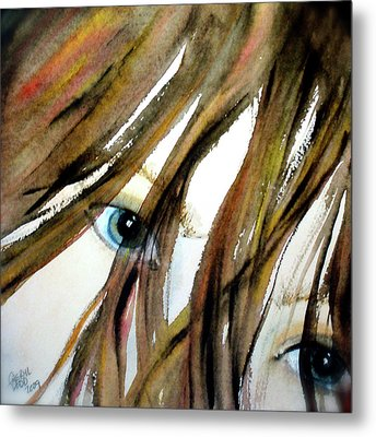 Alex's Eyes Metal Print by Cheryl Dodd
