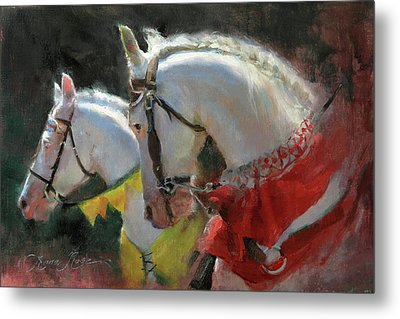 All The King's Horses Metal Print by Anna Rose Bain