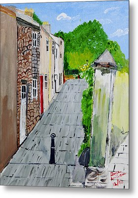 Metal Print featuring the painting Alleyway by Swabby Soileau