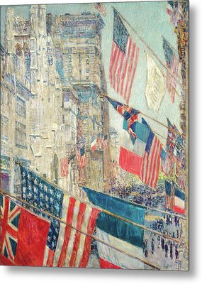 Allies Day - May 1917 Metal Print by Childe Hassam