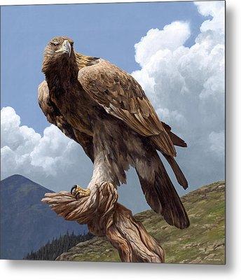 Alpine Hunter Metal Print