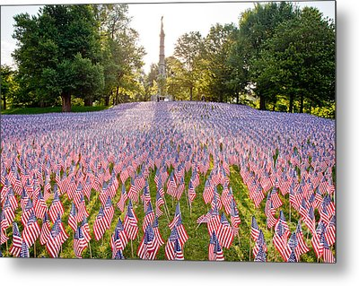 American Flags Metal Print