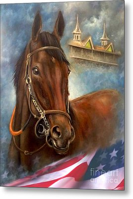 American Pharoah Metal Print by Patrice Torrillo