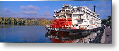 American Queen Paddlewheel Ship Metal Print by Panoramic Images