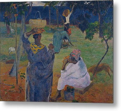 Among The Mangoes At Martinique Metal Print by Paul Gauguin