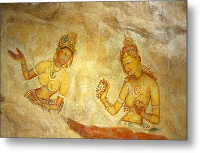 Ancient Cave Wall Paintings Depicting Metal Print by Jason Edwards