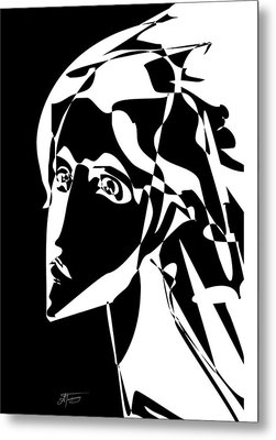 Metal Print featuring the drawing Angel by Alex Tavshunsky