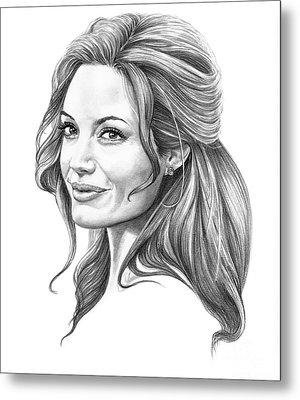Angelina Jolie Metal Print by Murphy Elliott