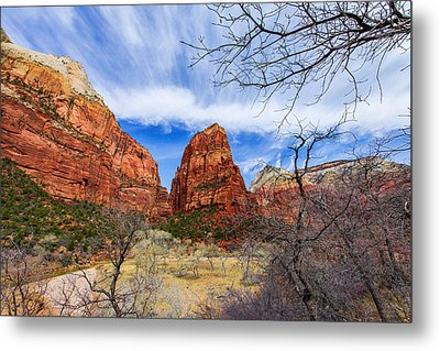 Angels Landing Metal Print by Chad Dutson