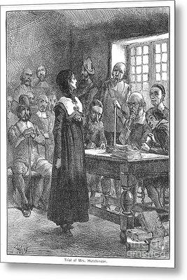 Anne Hutchinson (1591-1643) Metal Print by Granger