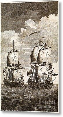 Ansons Spanish Galleon Capture, 1743 Metal Print