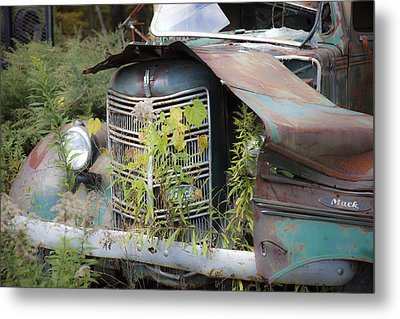 Antique Mack Truck Metal Print by Charles Harden