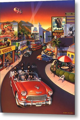 Ants On The Sunset Strip Metal Print by Robin Moline
