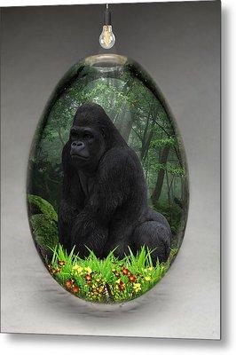 Ape Gorilla Art Metal Print by Marvin Blaine