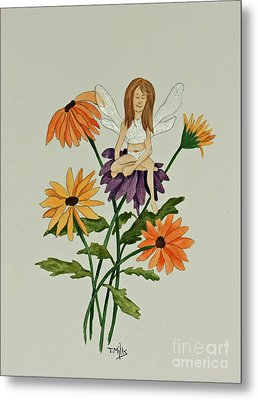 April Metal Print by Terri Mills