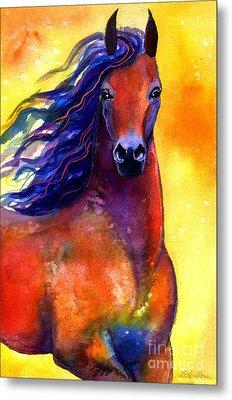 Arabian Horse 1 Painting Metal Print by Svetlana Novikova
