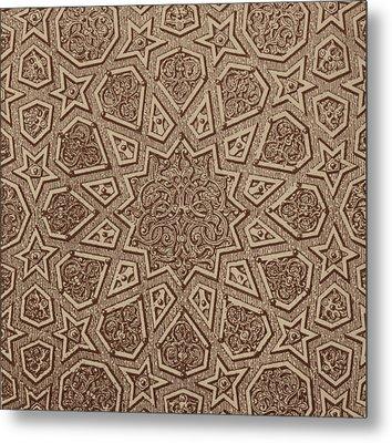 Arabian Textile Pattern Metal Print by Arabian School