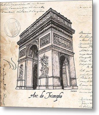 Arc De Triomphe Metal Print by Debbie DeWitt