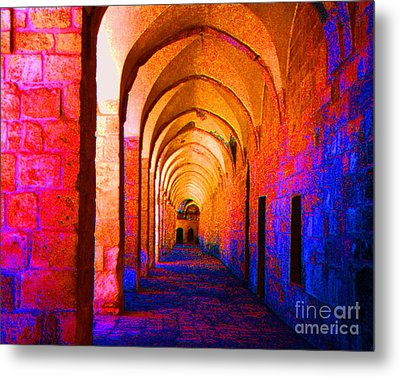 Metal Print featuring the photograph Arches Surreal by Merton Allen