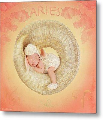 Aries Metal Print by Anne Geddes