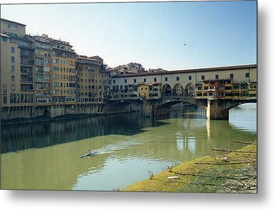 Metal Print featuring the photograph Arno River In Florence Italy by Marna Edwards Flavell