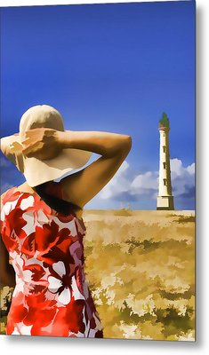 Aruba Lighthouse Metal Print by Dennis Cox WorldViews