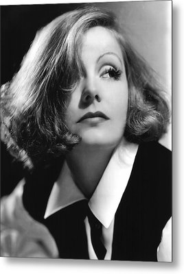 As You Desire Me, Greta Garbo, Portrait Metal Print by Everett