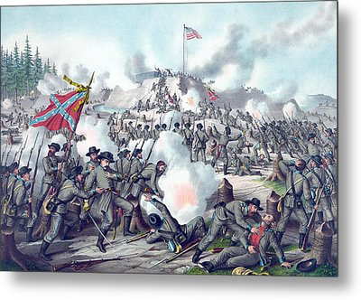 Assault On Fort Sanders Metal Print