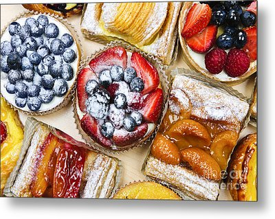 Assorted Tarts And Pastries Metal Print by Elena Elisseeva