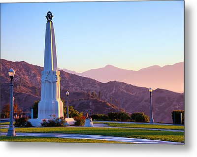 Astronomers Monument In Griffith Park Metal Print by Celso Diniz