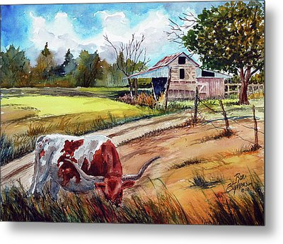 At Home On The Range Metal Print