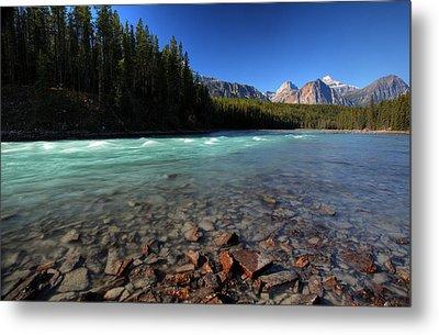 Athabasca River In Jasper National Park Metal Print