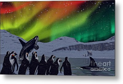Metal Print featuring the digital art Aurora Borealis by Methune Hively