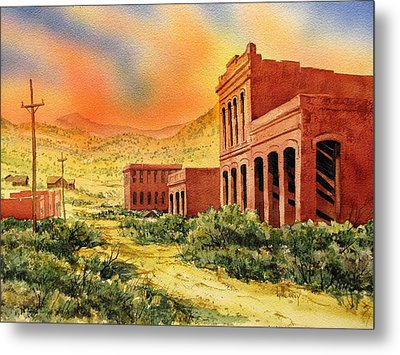 Aurora Ghost Town Nevada Metal Print by Kevin Heaney
