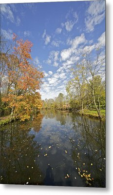 Autumn Colors On The Delaware And Raritan Canal Metal Print