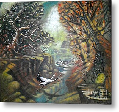 Autumn Flight Metal Print