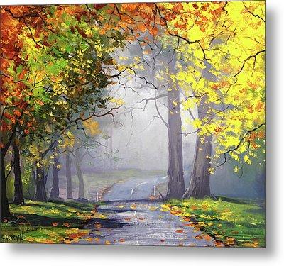 Autumn Mt Wilson Metal Print