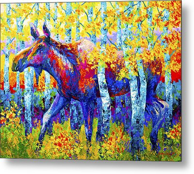 Autumn Queen Metal Print by Marion Rose