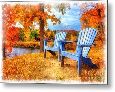 Autumn Splendor Watercolor Metal Print