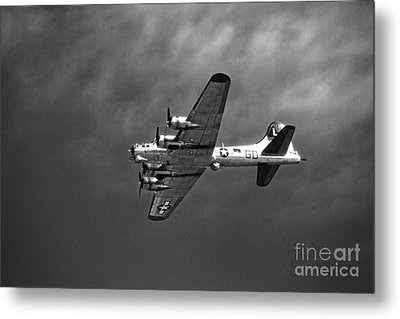 Metal Print featuring the photograph B-17 Bomber - Infrared by Thanh Tran
