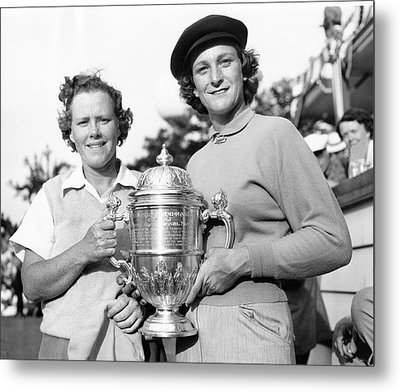Patty Berg And Babe Didrikson Metal Print by Underwood Archives