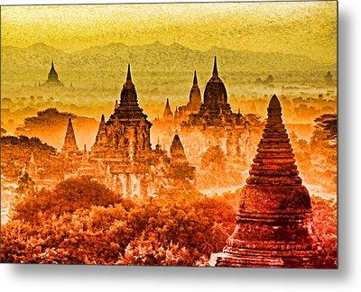 Bagan Pagodas Metal Print by Dennis Cox WorldViews