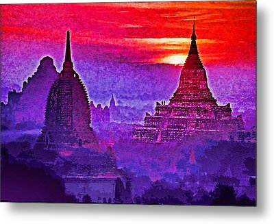 Bagan Sunrise Metal Print by Dennis Cox WorldViews
