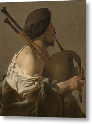 Bagpipe Player Metal Print