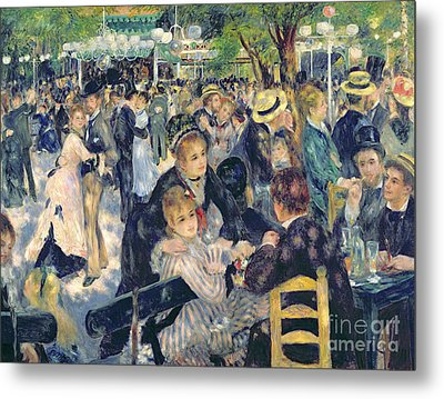 Ball At The Moulin De La Galette Metal Print by Pierre Auguste Renoir
