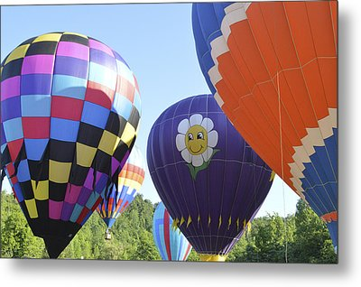 Metal Print featuring the photograph Balloons Waiting For The Weather To Clear by Linda Geiger