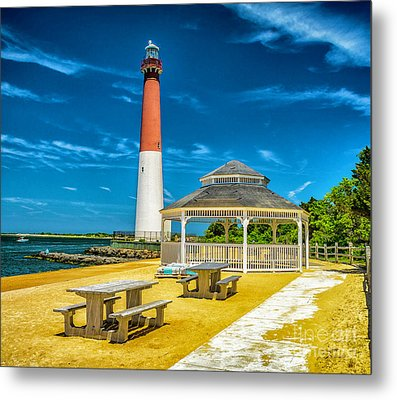 Metal Print featuring the photograph Barnegat Lighthouse Park by Nick Zelinsky