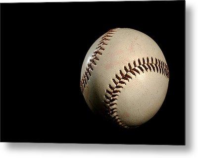 Baseball Ball Metal Print by Felix M Cobos
