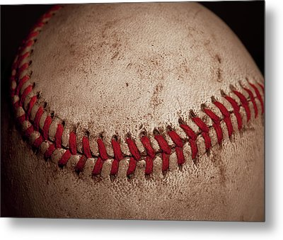 Metal Print featuring the photograph Baseball Seams by David Patterson