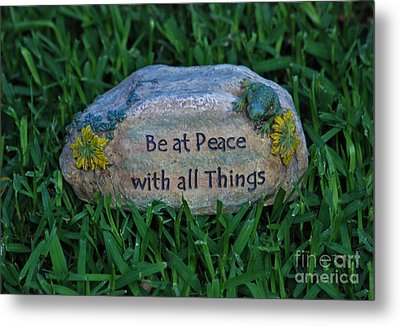 Metal Print featuring the photograph 1- Be At Peace by Joseph Keane
